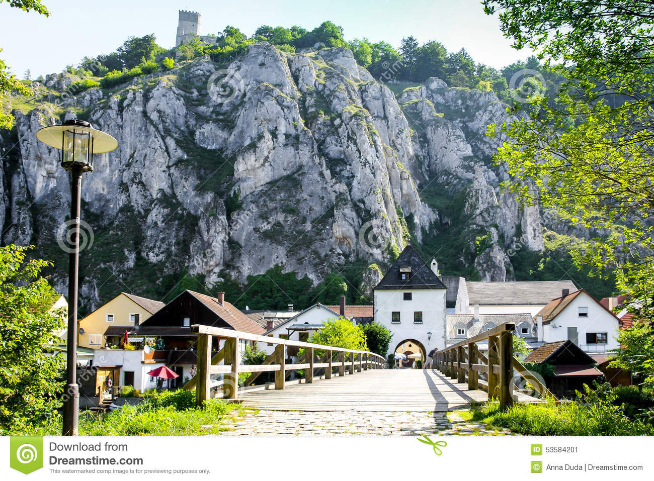 Essing Germany Bavaria Top View Altmuehl Valley Stock Photo.