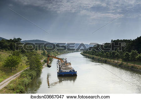 """Picture of """"Dredger on the Main."""