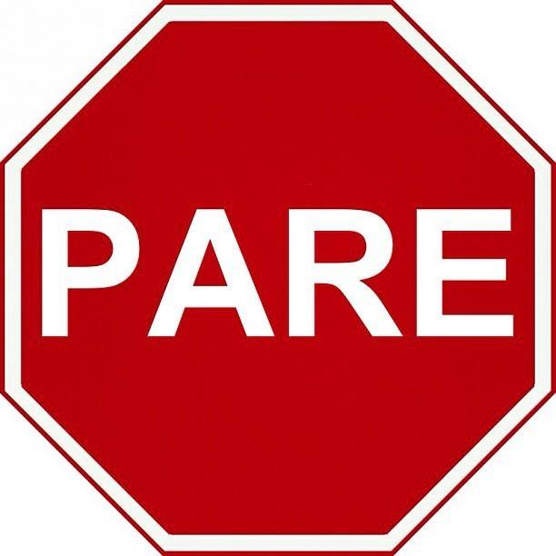Alto Stop Sign.