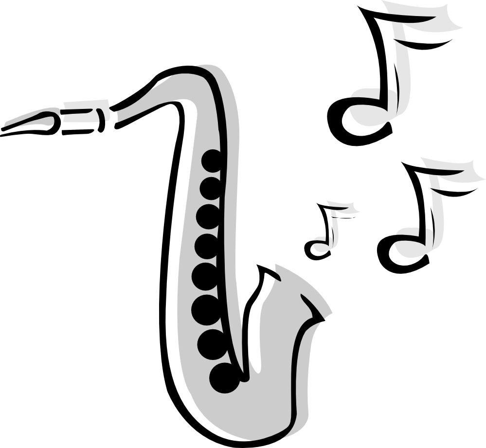 Alto Saxophone Clip Art.