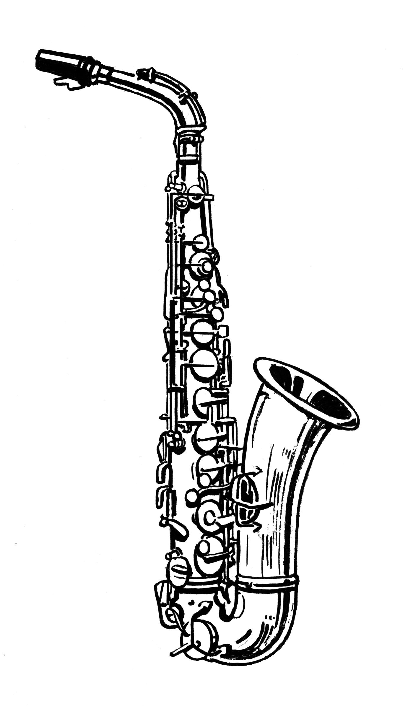 Photos Of Sax Clip Art.