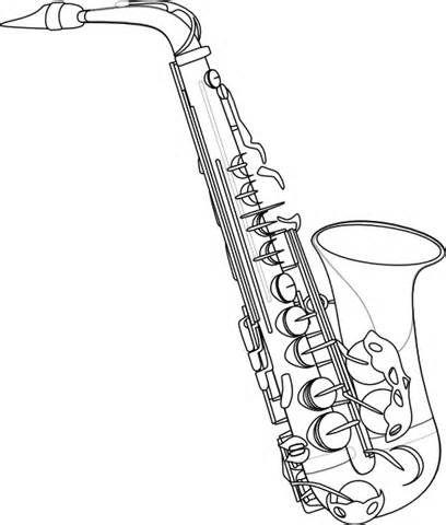Saxophone Outline Clip Art at Clker.com.
