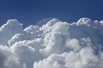 High Altitude Cumulus Clouds Royalty Free Stock Image.