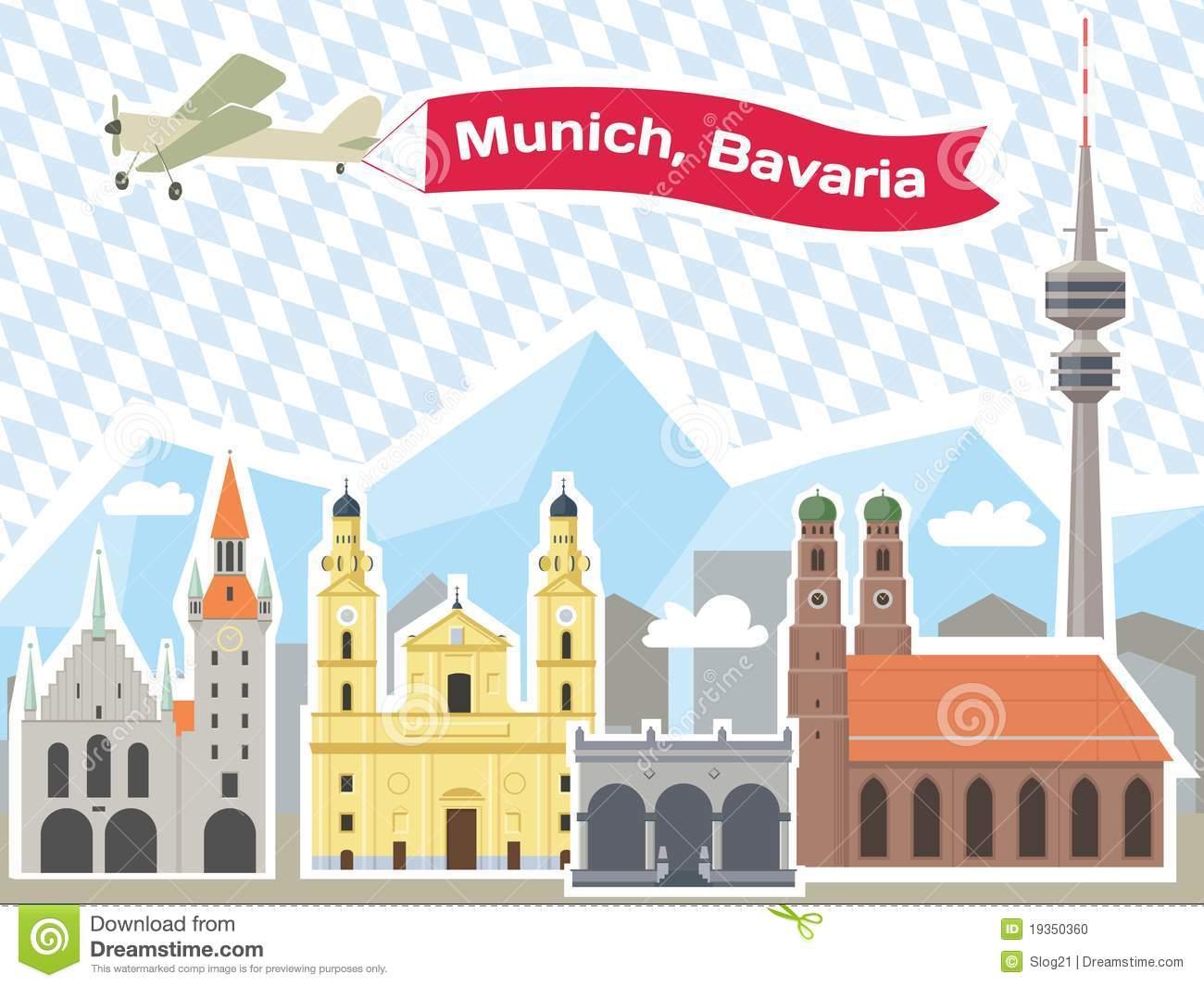 Munich Skyline Stock Photo.
