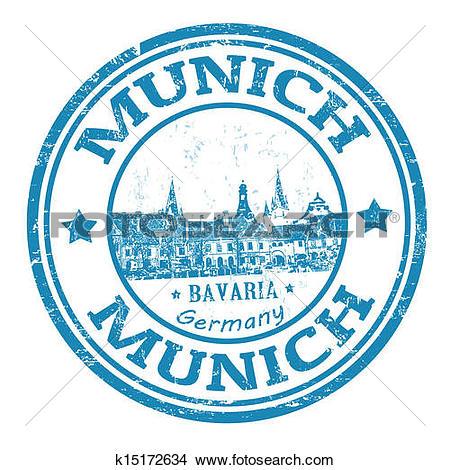 Clipart of Munich stamp k15172634.