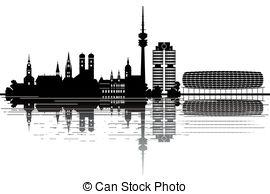 Munich skyline Illustrations and Clipart. 93 Munich skyline.