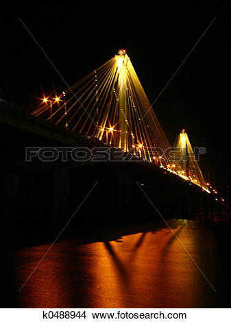 Stock Photo of Alton Bridge at Nigh k0488944.
