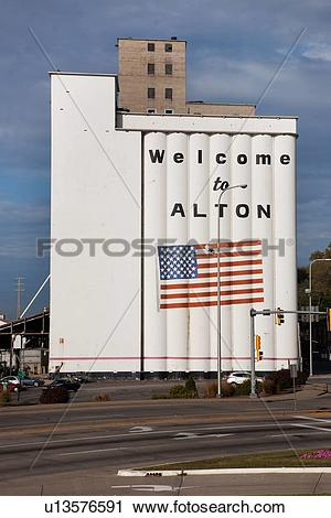 Stock Photography of Welcome to Alton Illinois u13576591.