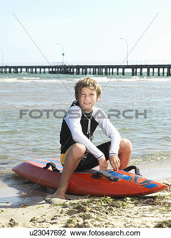 "Stock Photo of ""Portrait of boy nipper (child surf life savers."