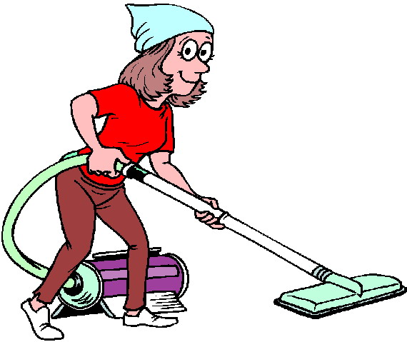 clipart of cleaning the house #8