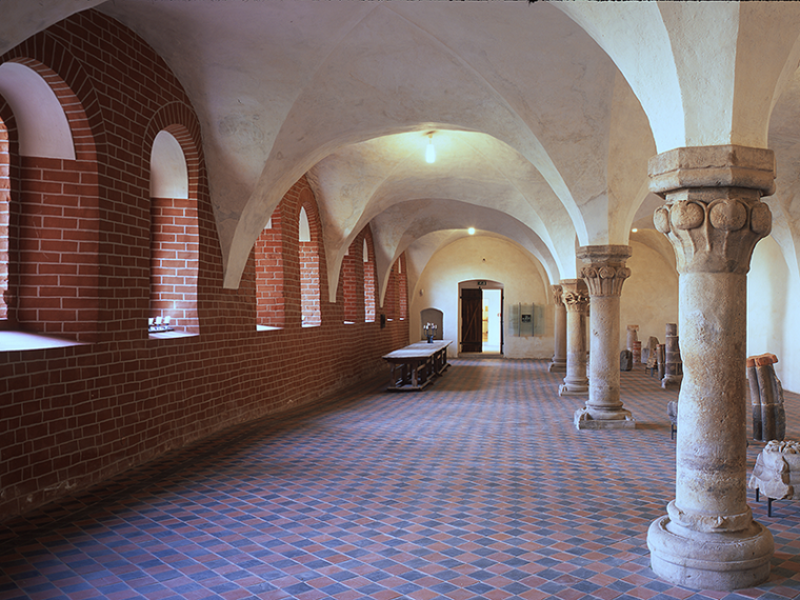 Exhibitions in Altzella Monastery Park.