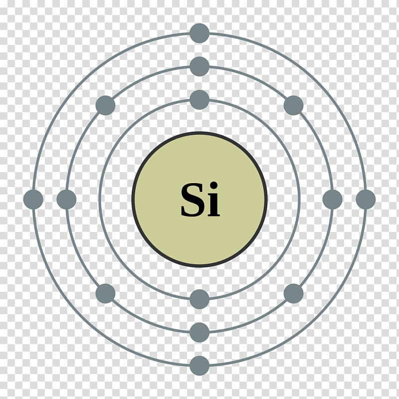 Silicon Atomic number Bohr model Chemical element, purified.