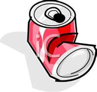 Aluminum Can Recycling Clipart.