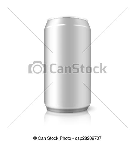 Vector Clipart of Blank vector aluminium can, for different.