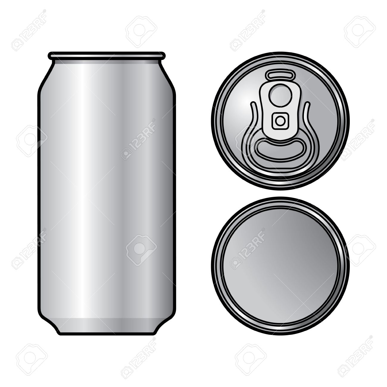 Aluminium Can Container Beer Water Beverage Drink Royalty Free.