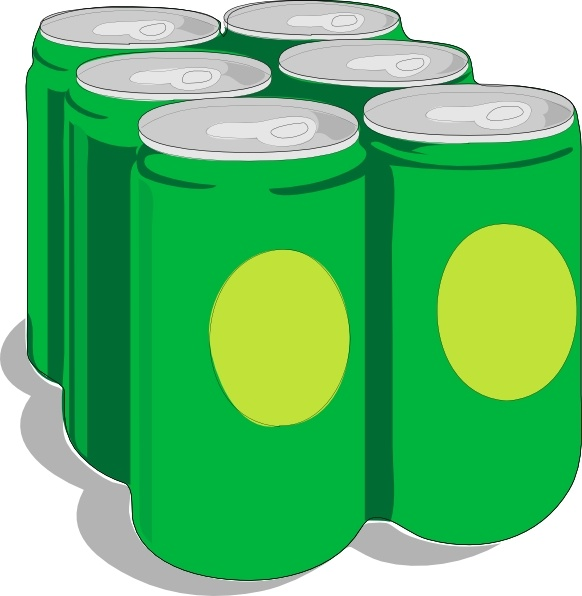 Beer Cans clip art Free vector in Open office drawing svg.