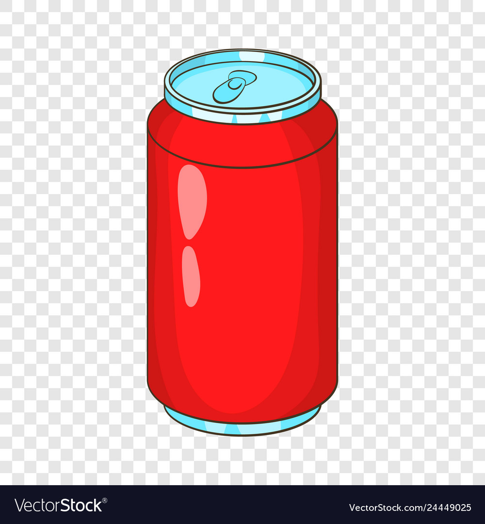 Aluminum beverage bank icon cartoon style.