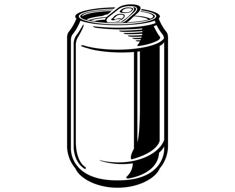 Beer, Soda, Aluminum, Can,  Silhouette,SVG,Graphics,Illustration,Vector,Logo,Digital,Clipart.