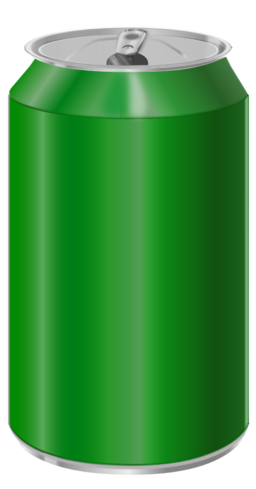 Green Soda Can Clipart.