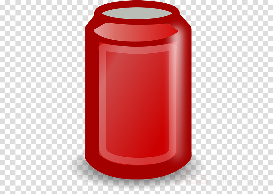 beverage can red cylinder clip art waste container clipart.