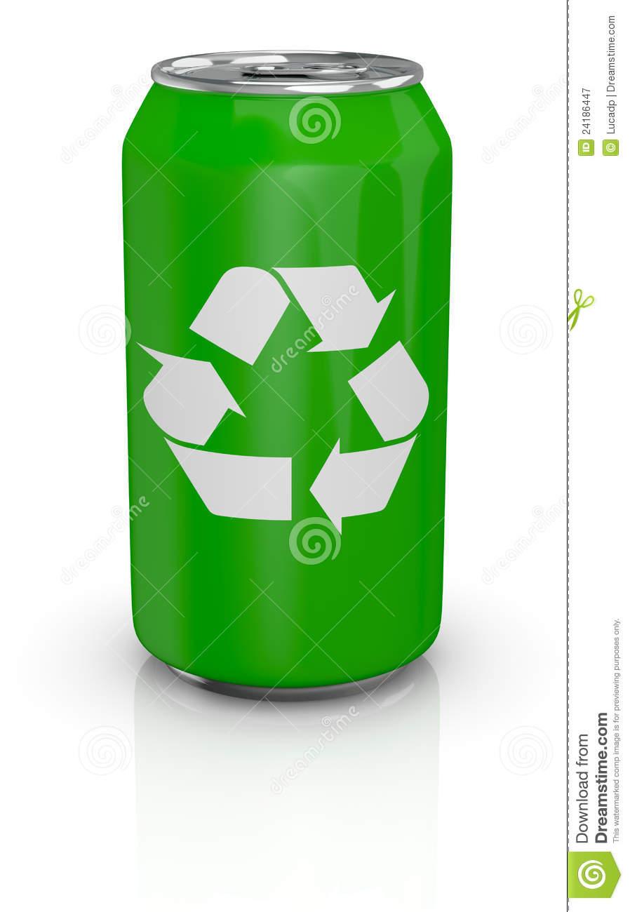 Aluminum Cans Recycling Symbol.