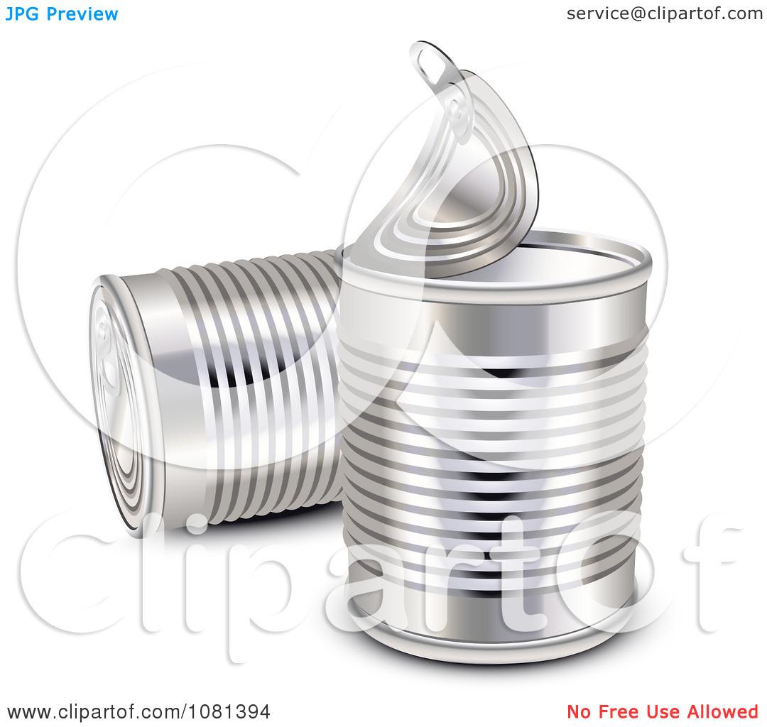 Clipart 3d Aluminum Food Cans.