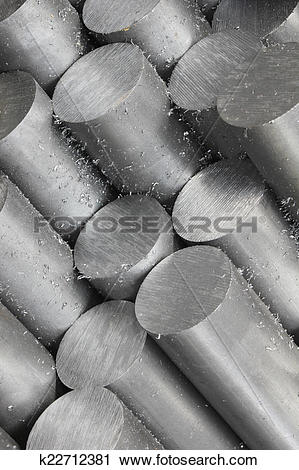 Stock Photography of Solid aluminum tubes k22712381.