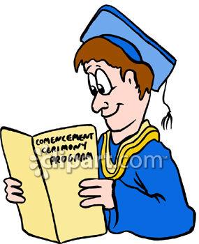 Graduation and alumni clipart image.