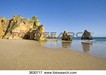 Picture of Praia dos Tres Irmaos, Alvor, Algarve, Portugal 3630717.