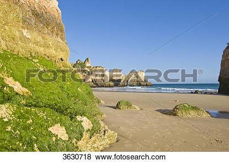 Pictures of Praia dos Tres Irmaos, Alvor, Algarve, Portugal.