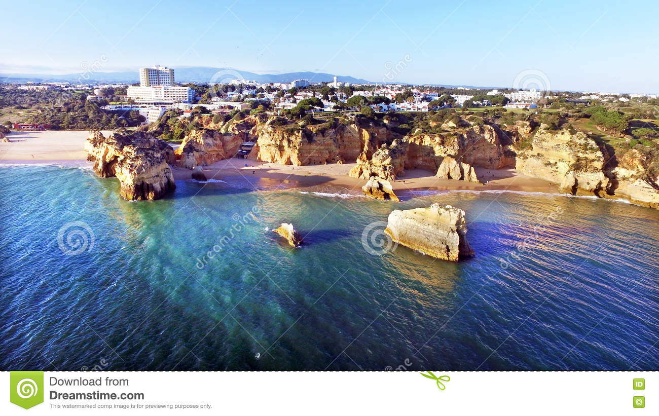 Praia Tres Irmaos In Alvor Portugal Royalty Free Stock Images.
