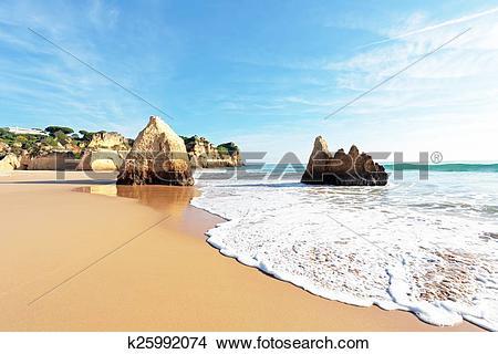 Stock Photo of Praia Tres Irmaos in Alvor Portugal k25992074.
