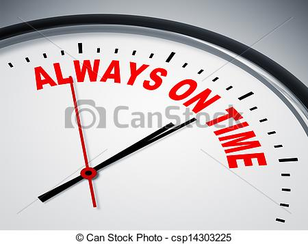 Clip Art of always on time.