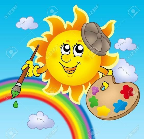 Rainbow Sun with Rainbow Blue Sky & Rainbow always together as one.