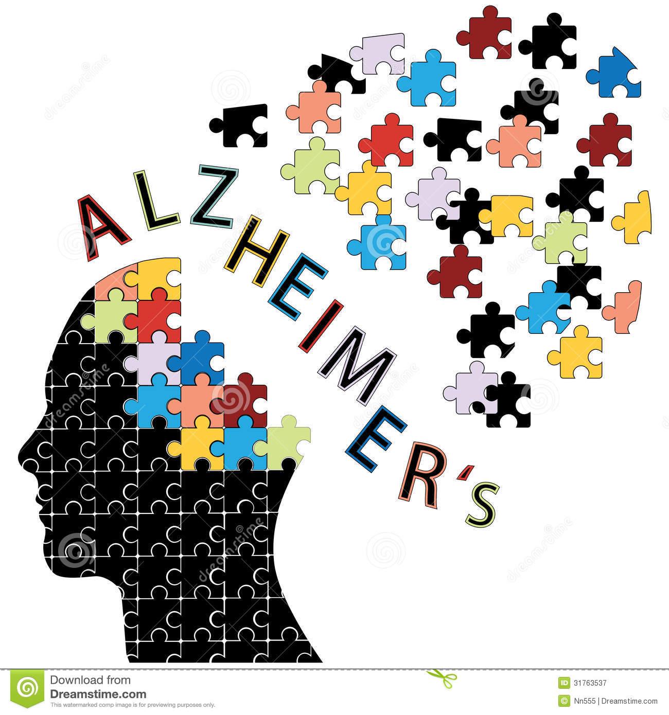 Alzheimer\'s Disease Patient Clipart.