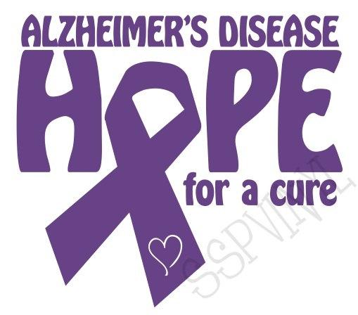 Alzheimer's ribbon clipart.