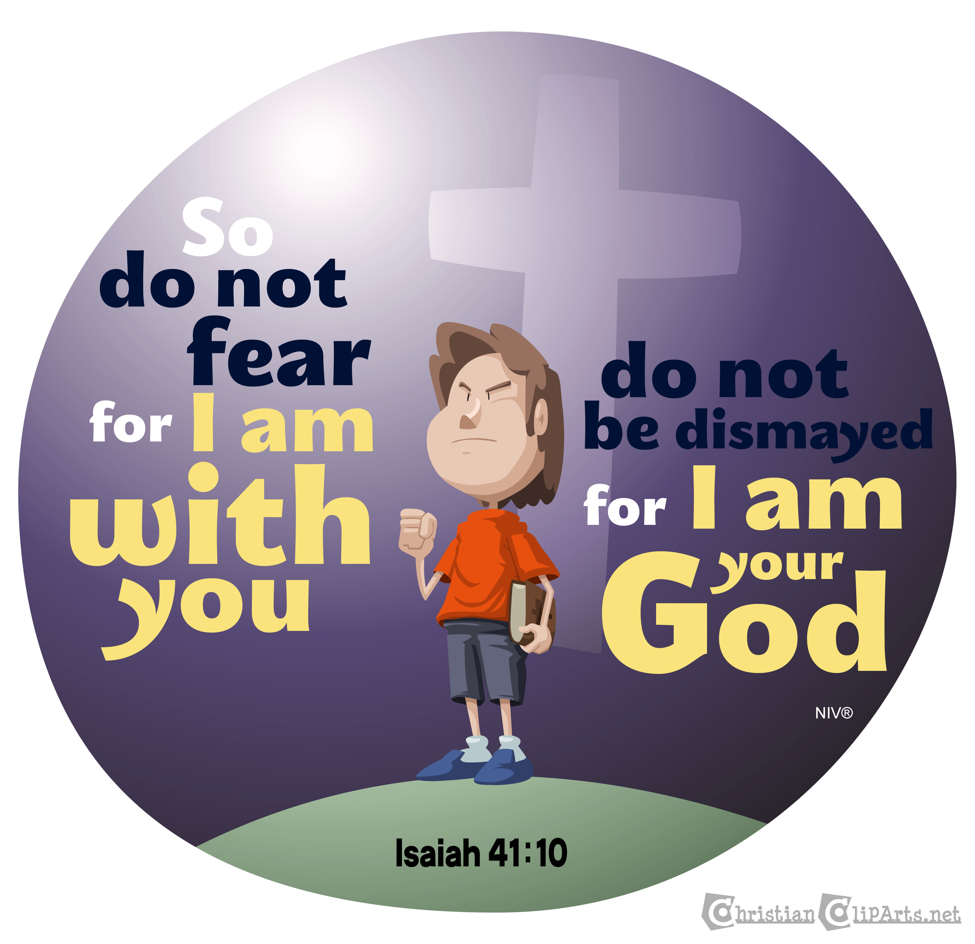 Christian clipArts.net _ Do not fear, for I am with you.