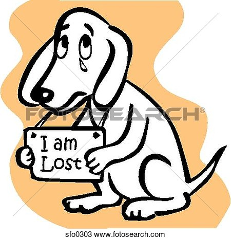 Getting Lost Clipart A Dog Holding An I Am Lost #HpYW8i.