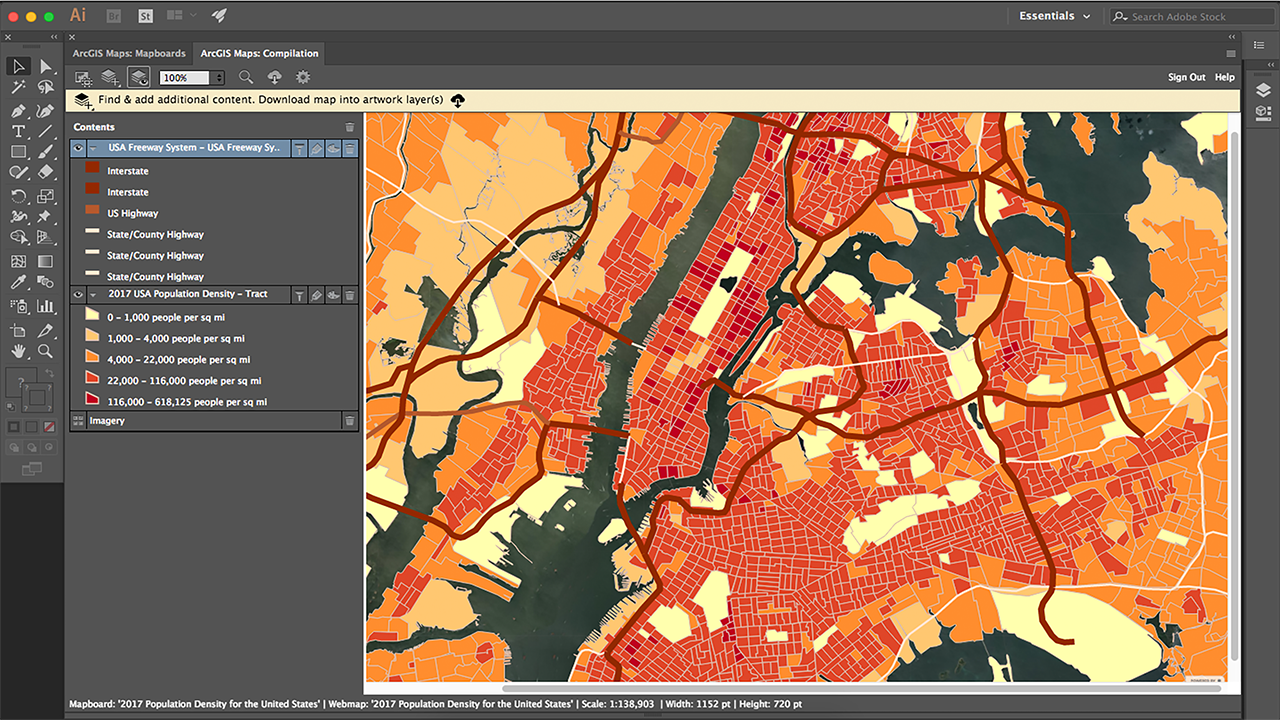 ArcGIS Maps for Adobe Creative Cloud.