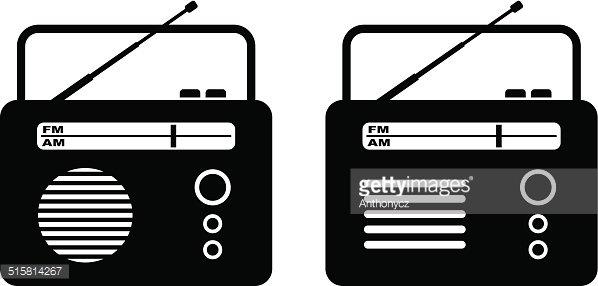 Radio on white background Clipart Image.