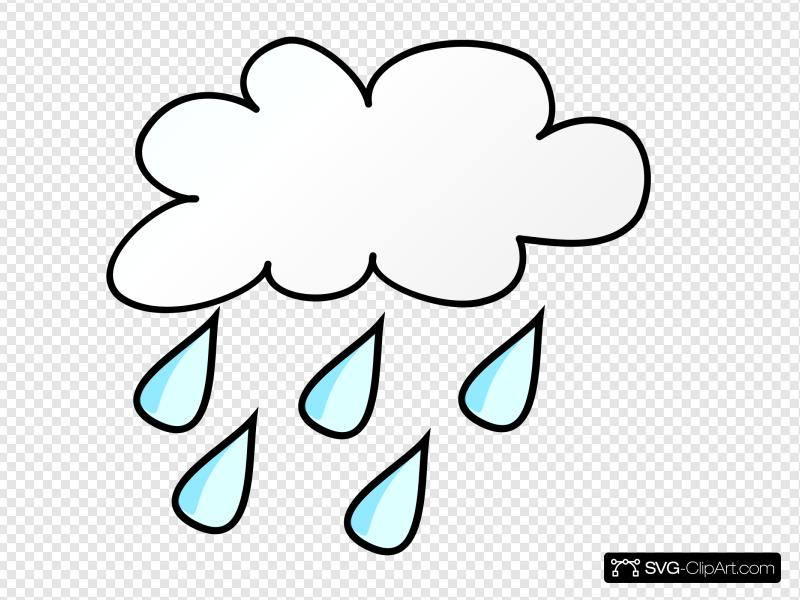 Rainy Weather Clip art, Icon and SVG.