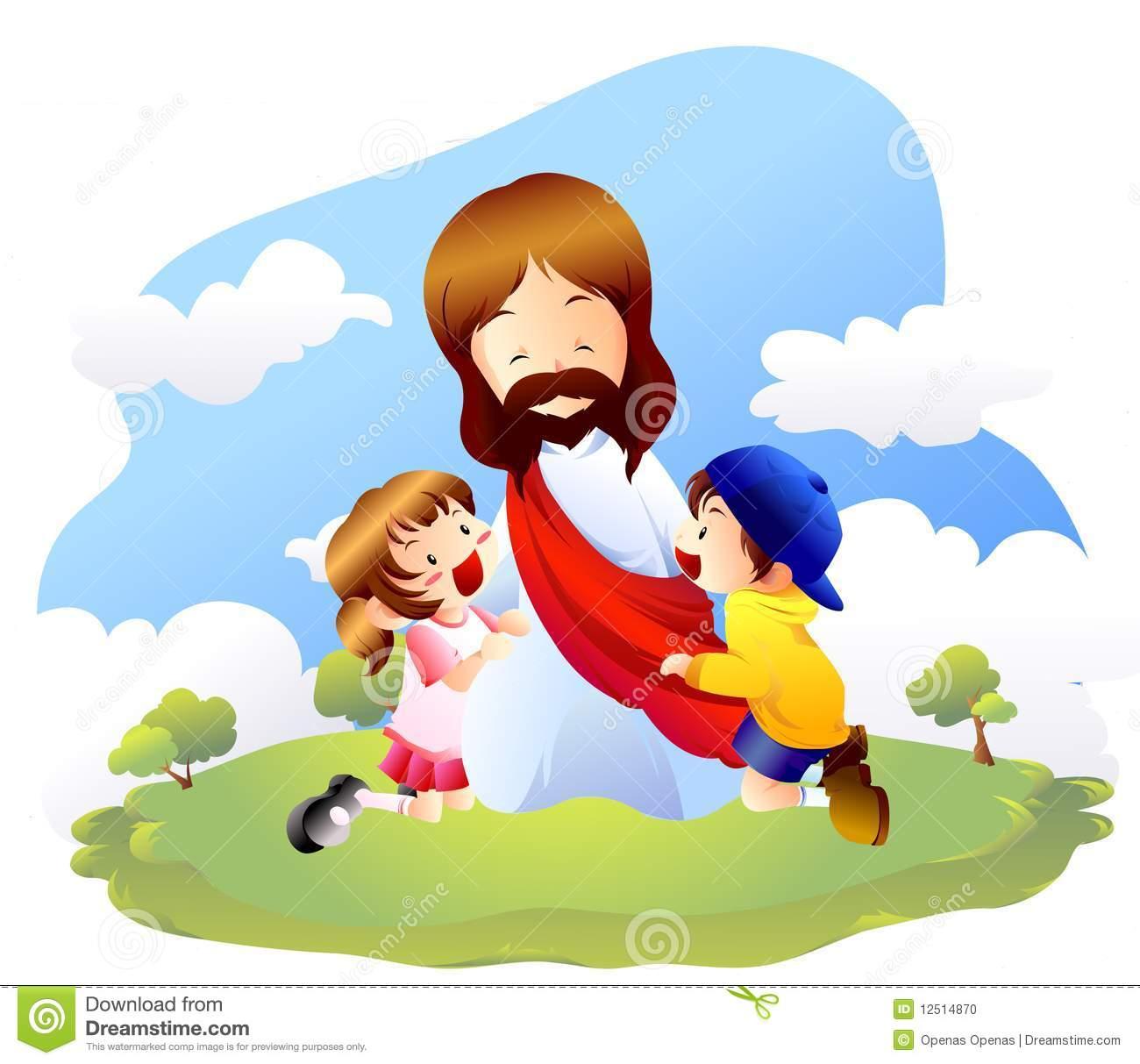Jesus ama a los ninos clipart.
