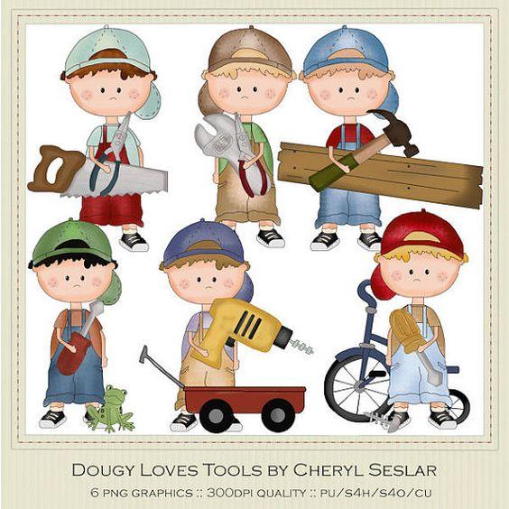 Dougy ama Herramientas Clipart por Cheryl Seslar.