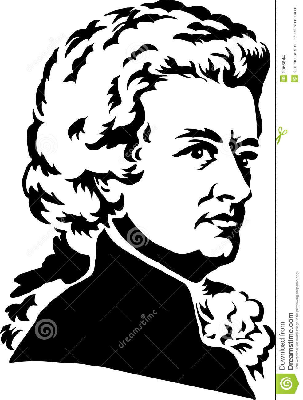Wolfgang Amadeus Mozart/eps Editorial Stock Image.