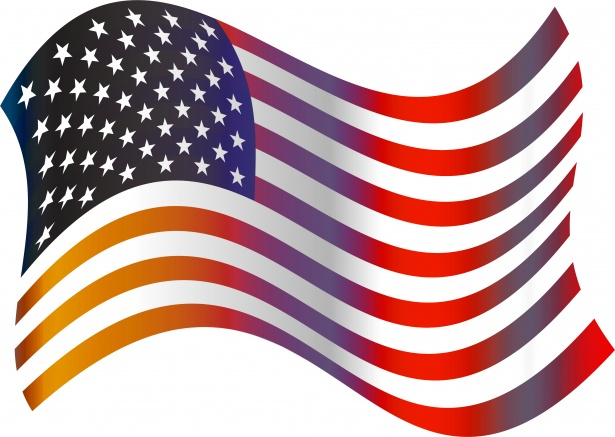 American Flag Clip Art Free Stock Photo.