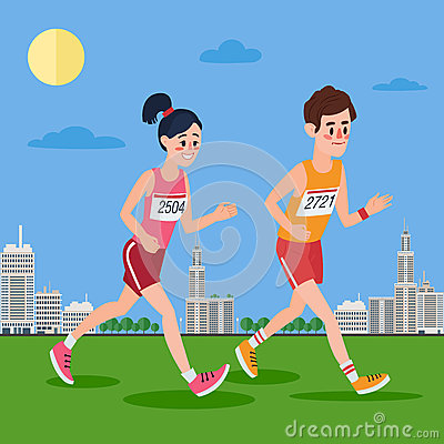 Running Man Jogging In Modern City Stock Photo.