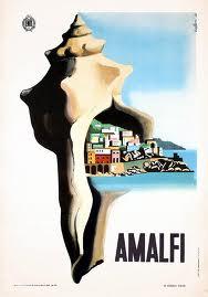 Rare Amalfi Coast vintage poster.