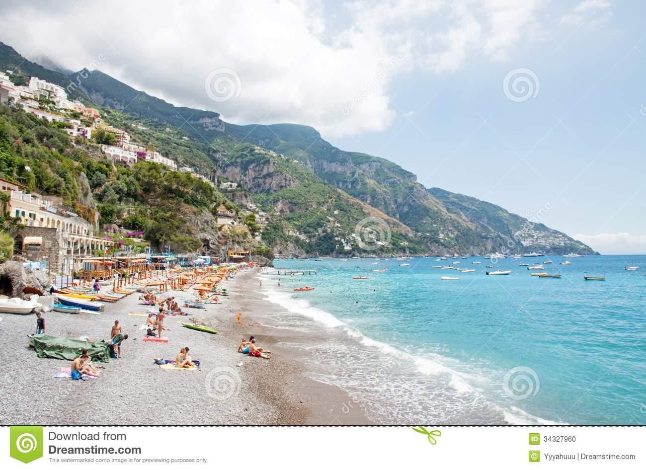 Positano, Amalfi Coast, Italy Editorial Image.