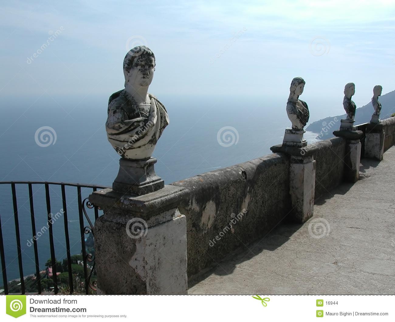Villa Cimbrone Balcony, Amalfi Coast, Italy Stock Images.