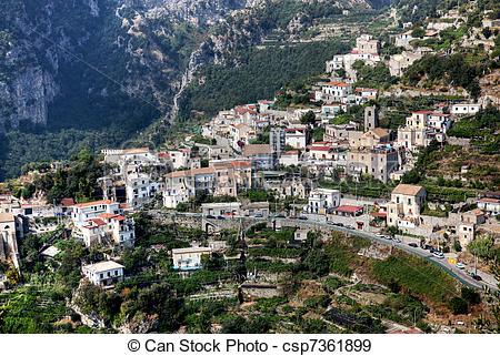 Stock Photographs of Pantone Scala Amalfi Coast.